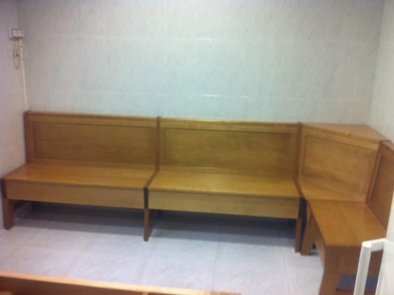 banco de cocina en madera de haya