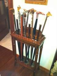 sujeta bastones o paraguero de madera diseño